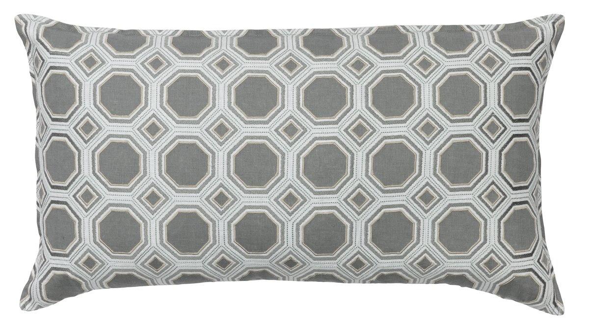 Honeycomb Appliqué Ivory Cushion-1