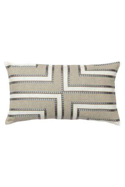 Labyrinth Appliqué Ivory Cushion