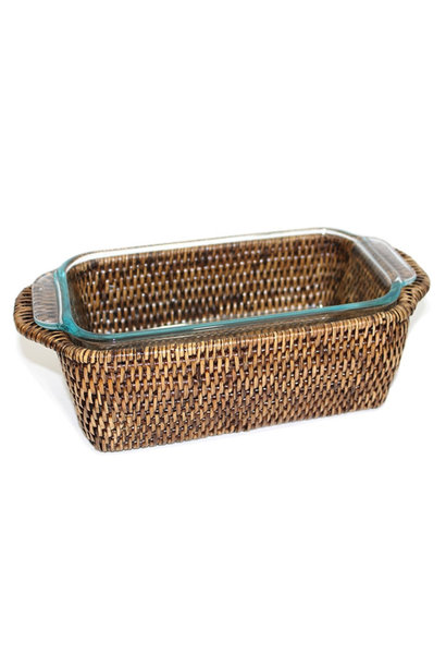 Rectangular Pyrex Loaf Bakeware & Basket