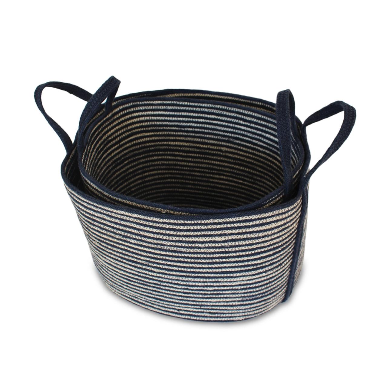 Jute Oval Tote Laundry Basket - Large-3