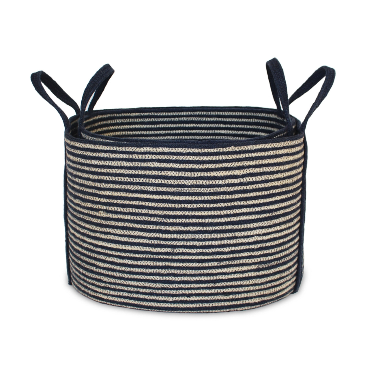 Jute Oval Tote Laundry Basket - Large-2