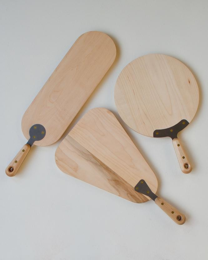 Serving Board Round - Maple-4