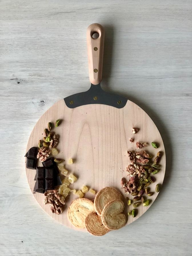 Serving Board Round - Maple-1