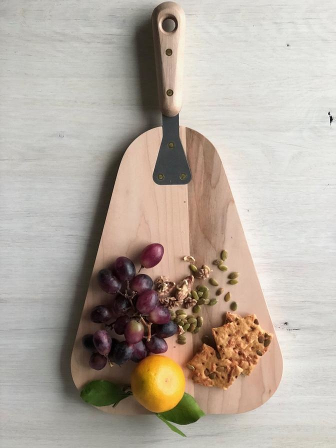 Serving Board Round - Maple-2
