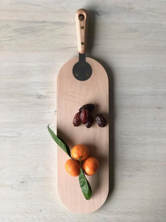 Serving Board Round - Maple-3