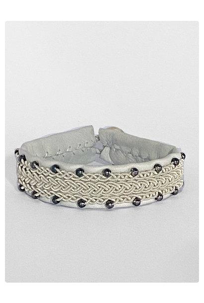 Sami Bracelet Felica White/Silver Beads