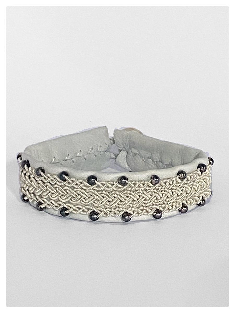 Sami Bracelet Felica White/Silver Beads-1