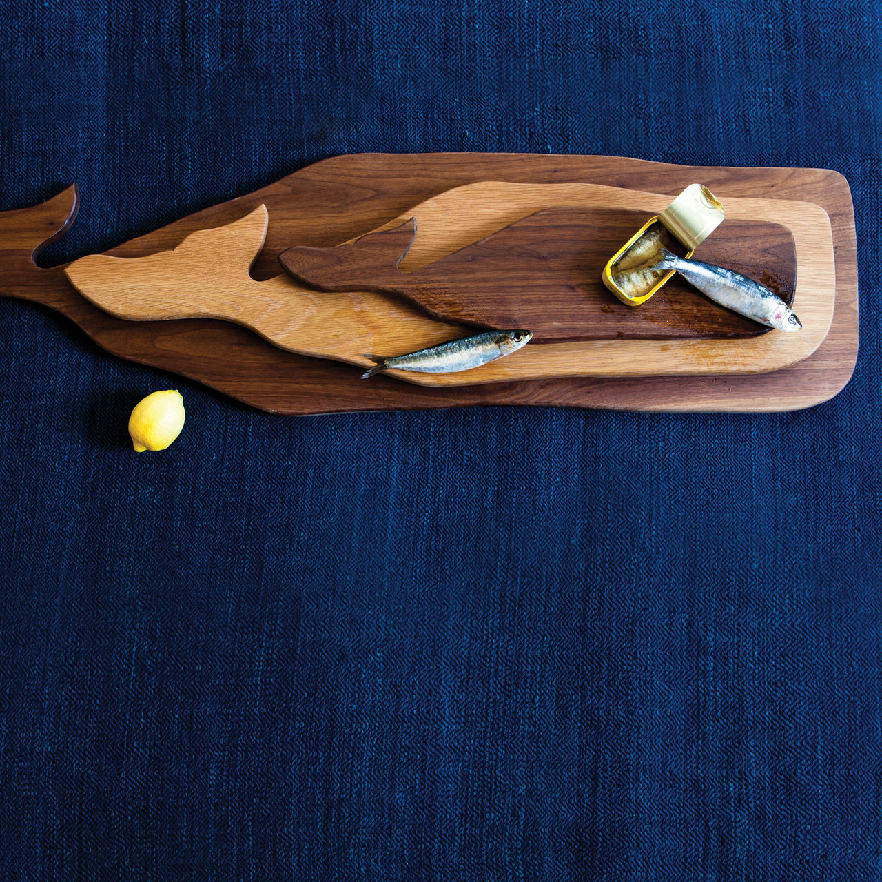 Great Whale Serving Board Lg - Walnut-3
