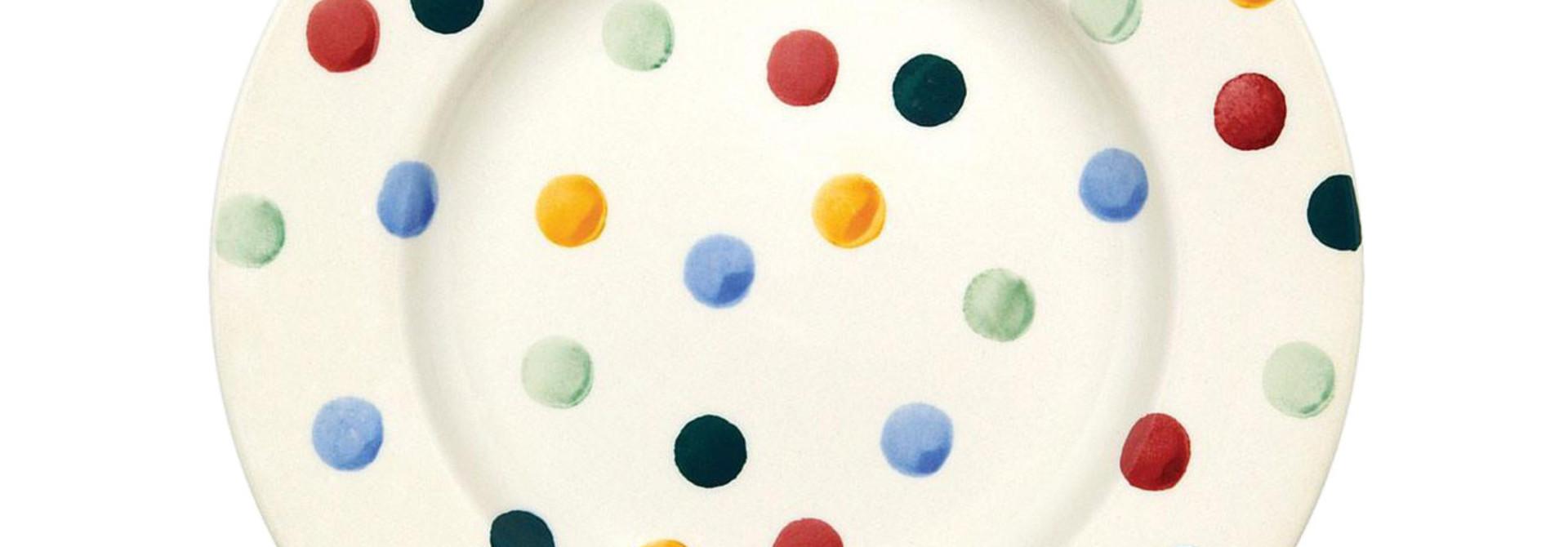 Salad Plate - Polka Dot