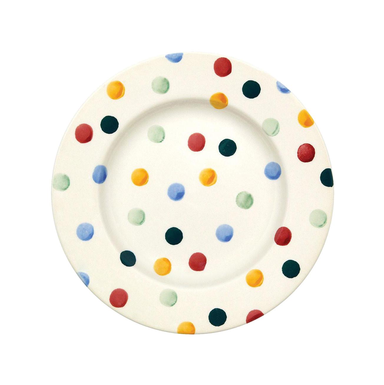 Salad Plate - Polka Dot-1