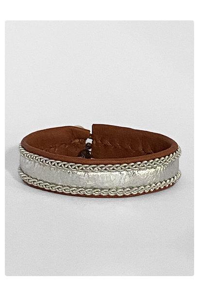 Sami Bracelet Elfa Tan/Silver