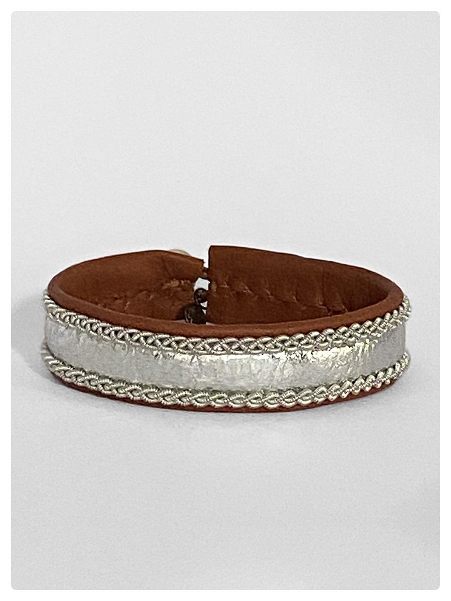 Sami Bracelet Elfa Tan/Silver-1