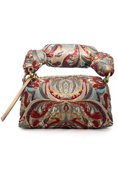 Jacquard Blue Handbag