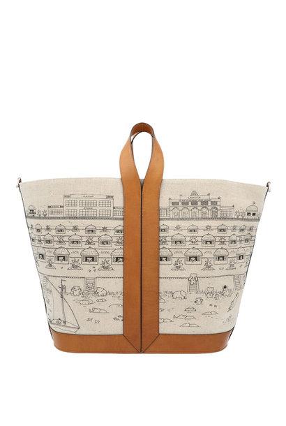 Cotton & Leather Bingo Tote Bag