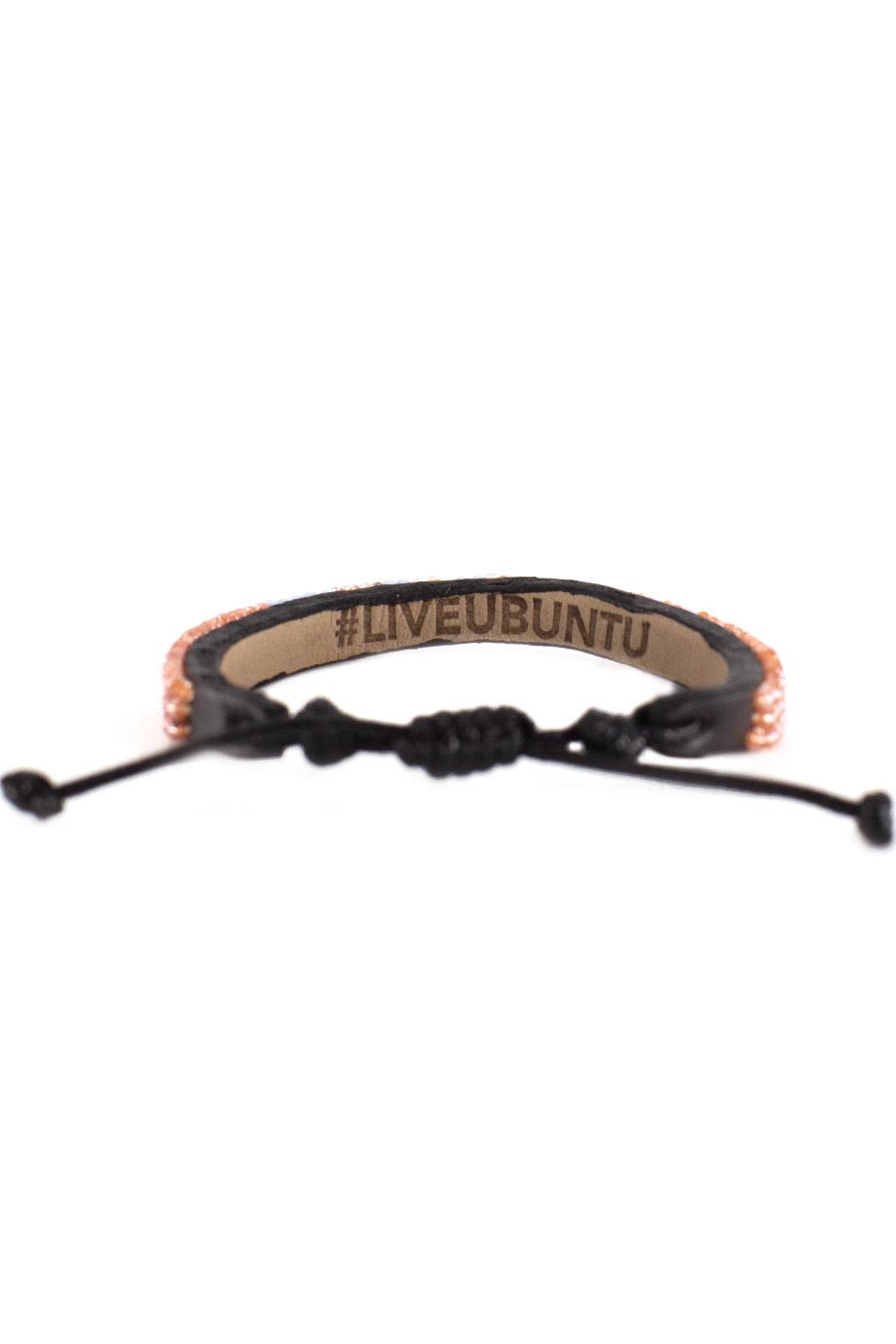 3 row LOVE Bracelet Peach/lt.Blue-3