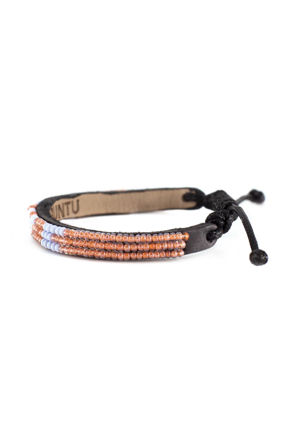 3 row LOVE Bracelet Peach/lt.Blue-2