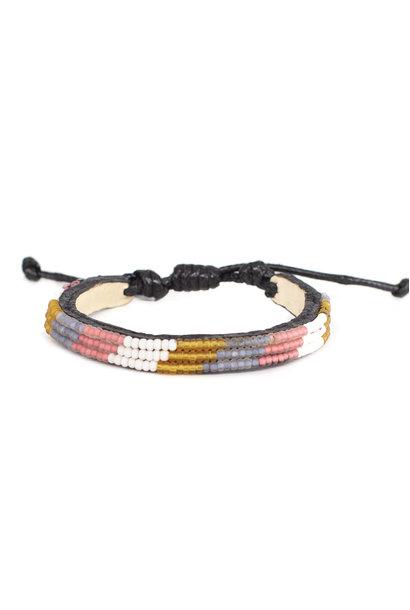 3 row Desert Bracelet Rose Wimbi