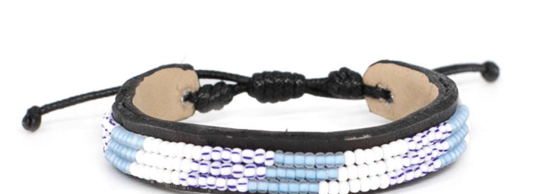 3 row Capetown Bracelet Blue Wimbi