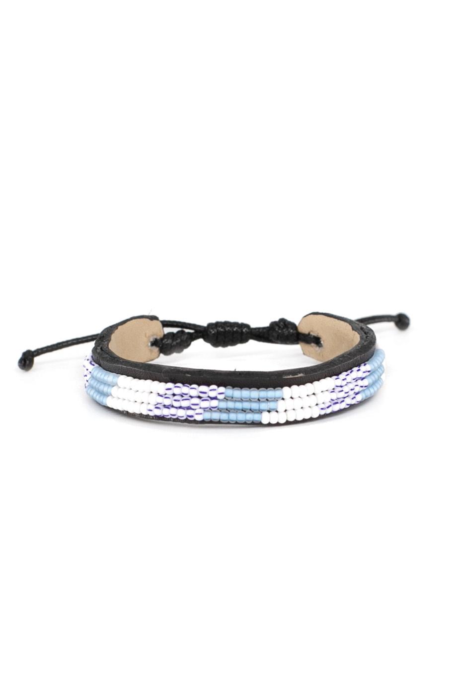 3 row Capetown Bracelet Blue Wimbi-1