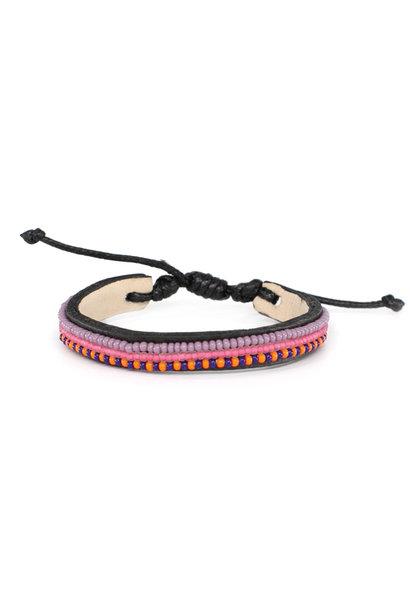 3 row Summer Bracelet Pink Neema