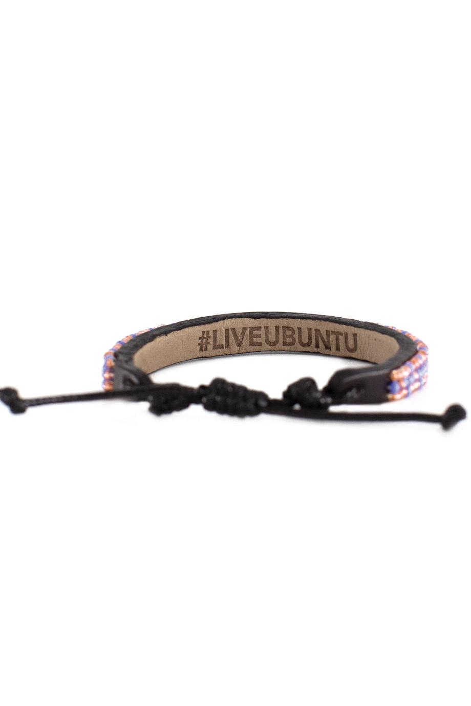 3 row Msalaba Bracelet Pearl/Periwinkle-3