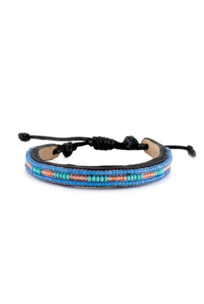 3 row Nija Bracelet SeaBlue/Turquoise