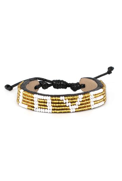 5 row LOVE Bracelet Gold/White