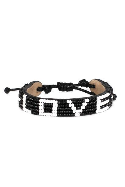 5 row LOVE Bracelet Black/White