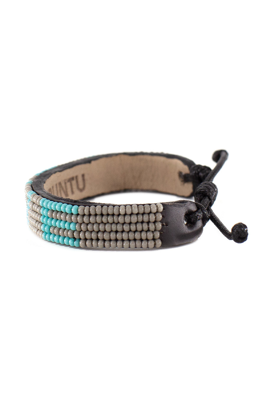 5 row LOVE Bracelet Grey/Turquoise-2