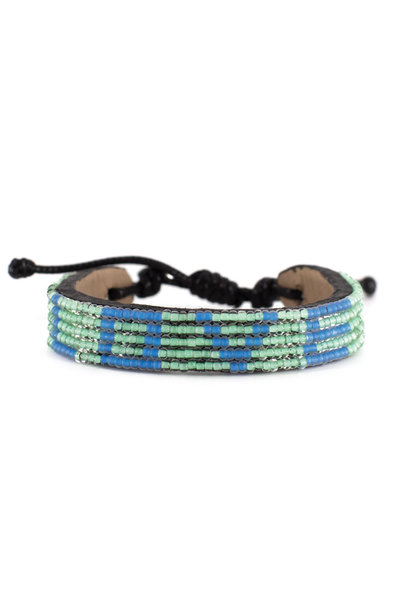 5 row LOVE Bracelet Turquoise/SeaBlue