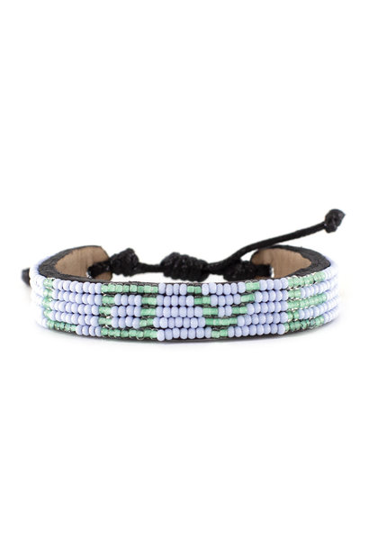 5 row LOVE Bracelet PaleBlue/Turquoise