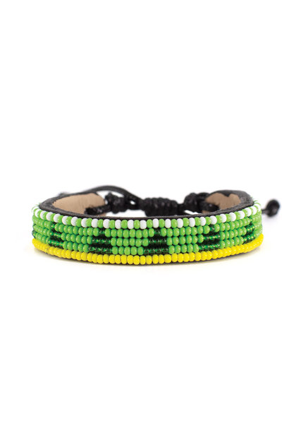 5 row Piramidi Bracelet Green/Deep Green