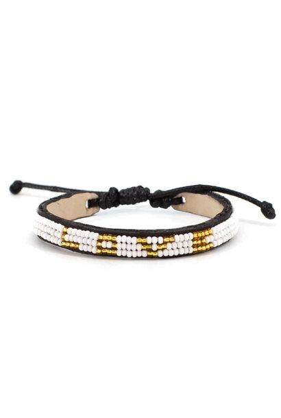 3 Row LOVE Bracelet White/Gold