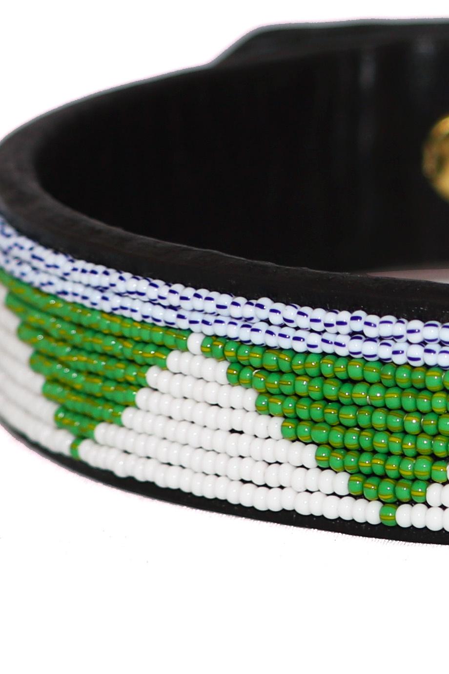 Pet Collar Tribal Green Medium-2