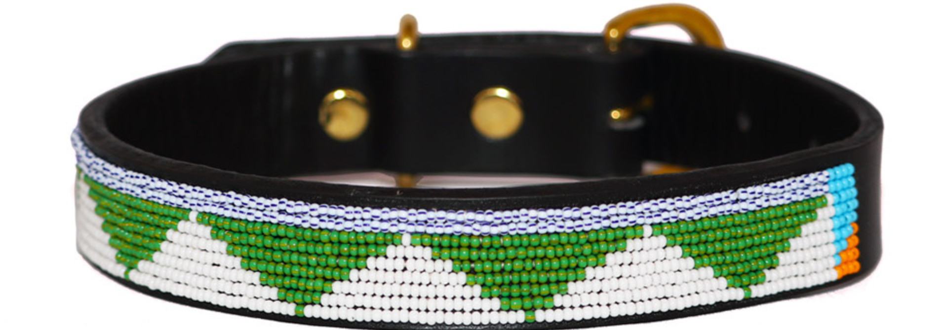Pet Collar Tribal Green Medium
