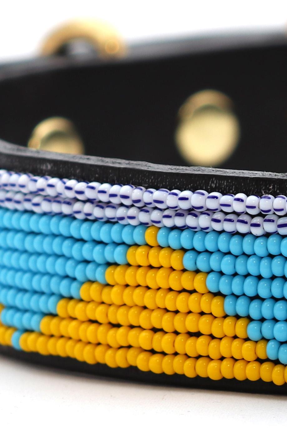 Pet Collar Spring Yellow/Blue Small-2