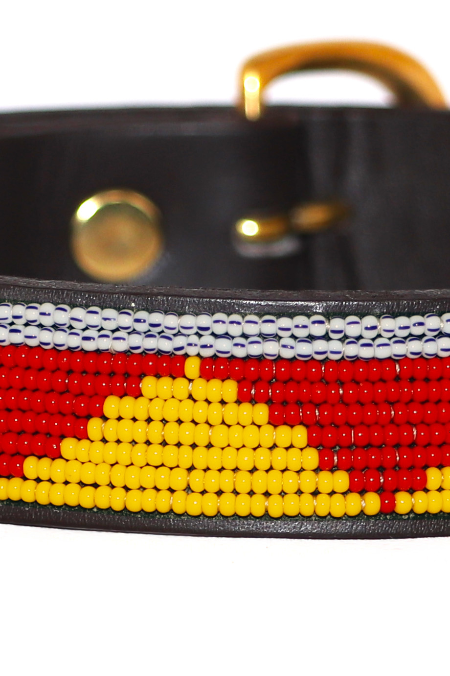 Pet Collar Spring Yellow/Red Small-3
