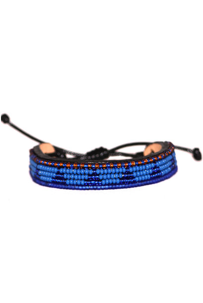 5 row Piramidi Bracelet Blue/Blue