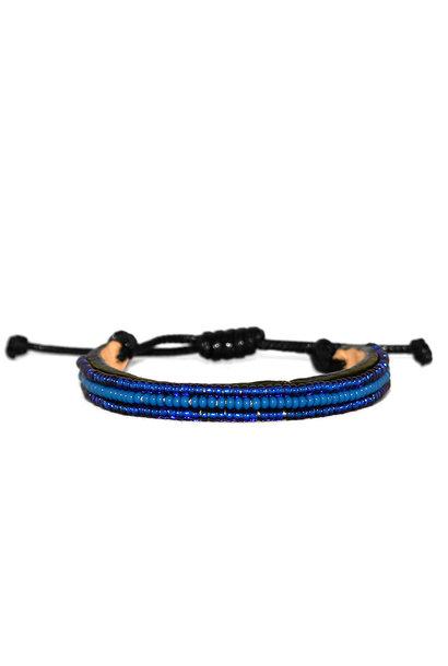 3 row Nija Bracelet Azure/Blue