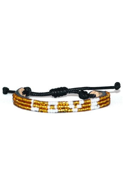 3 row LOVE Bracelet Gold/White