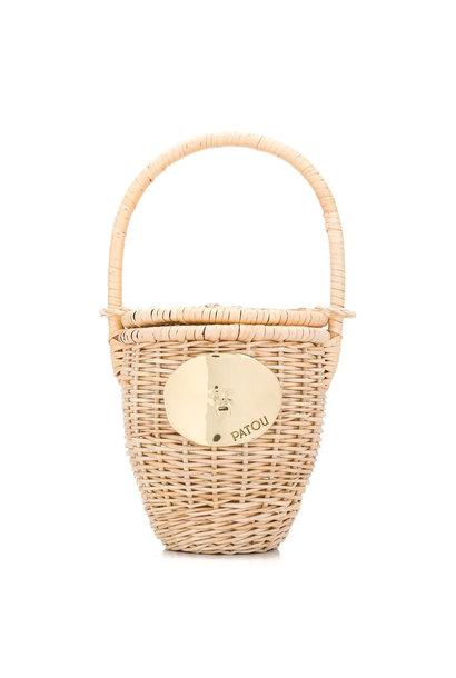 Wicker Bucket Bag
