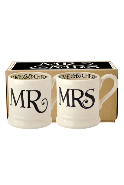 Mr & Mrs Set - 2 1/2 Pint Mugs Box