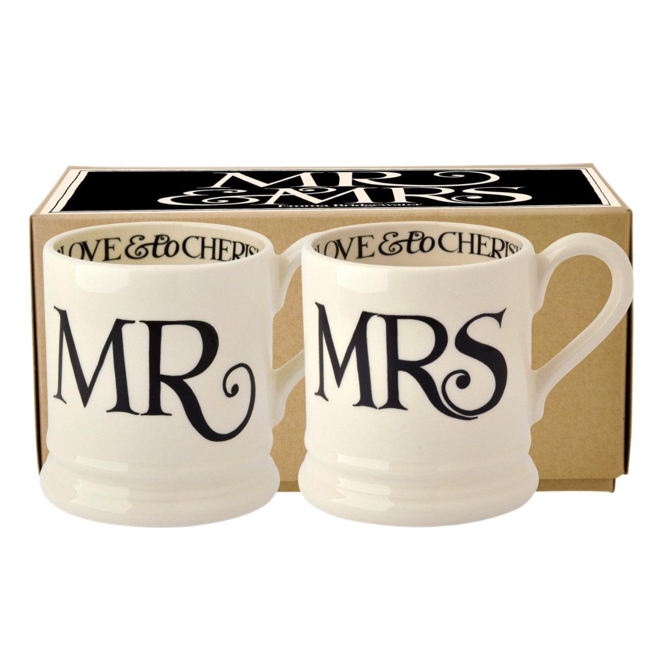Mr & Mrs Set - 2 1/2 Pint Mugs Box-1