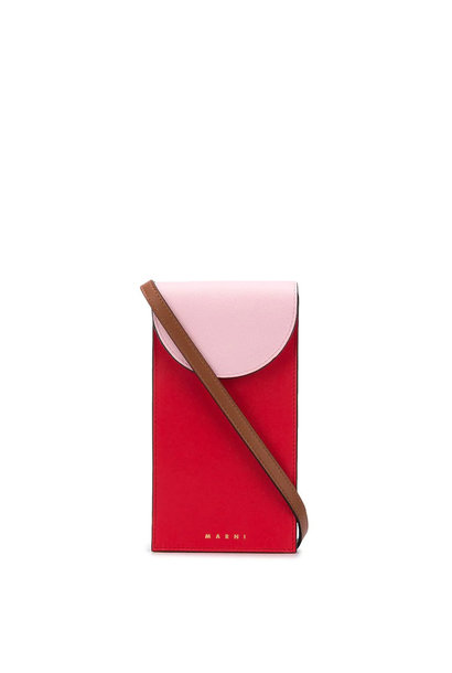 Calf Leather Flap Phone Carrier