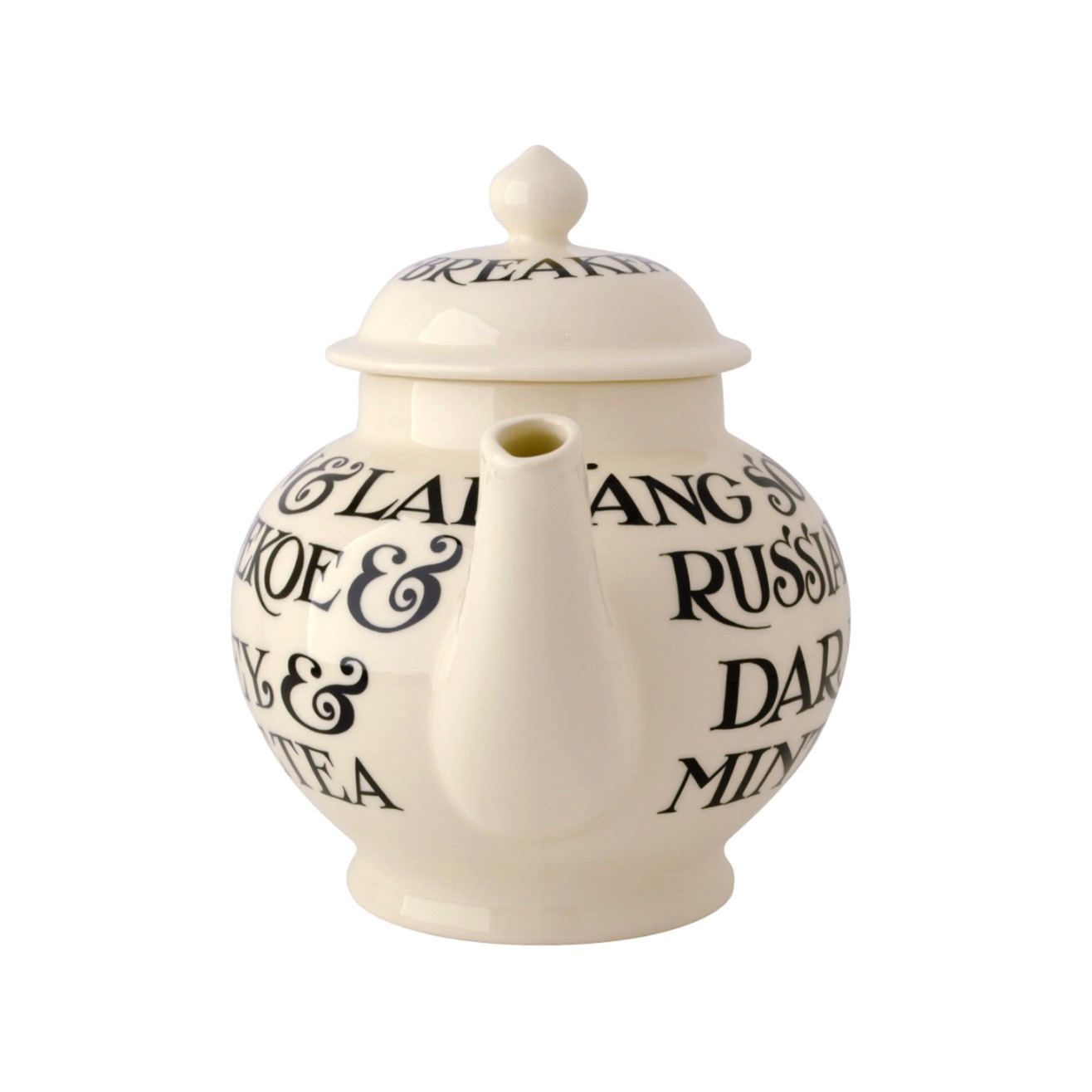 4 Mug Teapot Boxed - Black Toast-3