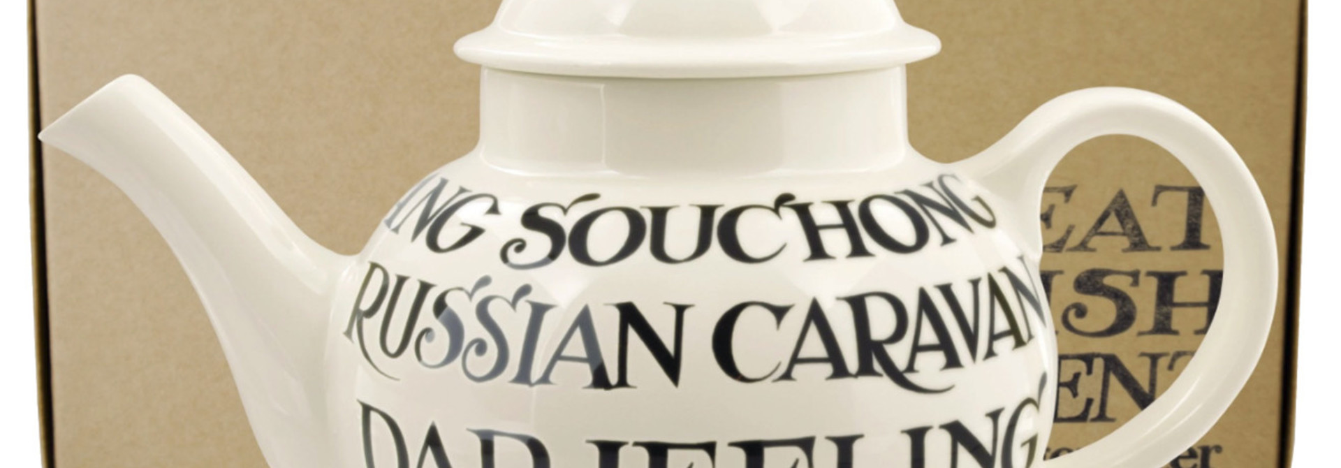 4 Mug Teapot Boxed - Black Toast