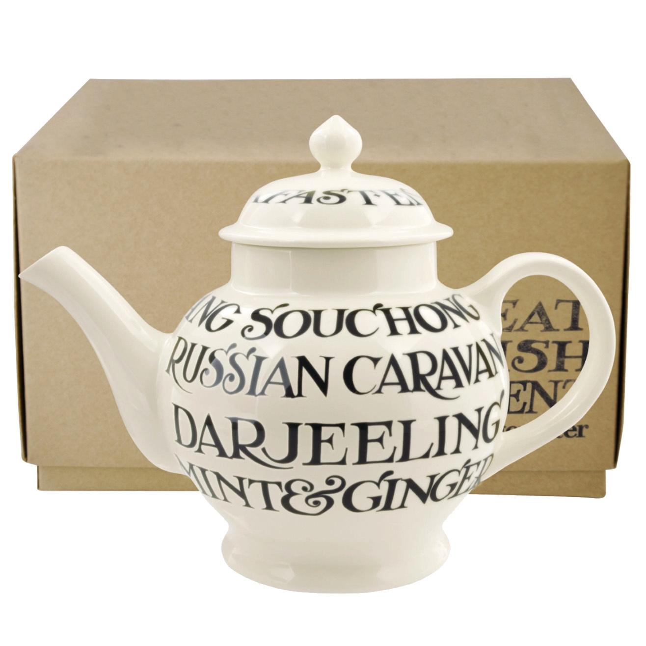 4 Mug Teapot Boxed - Black Toast-1