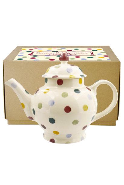 Teapot - 4 Mug - Polka Dots