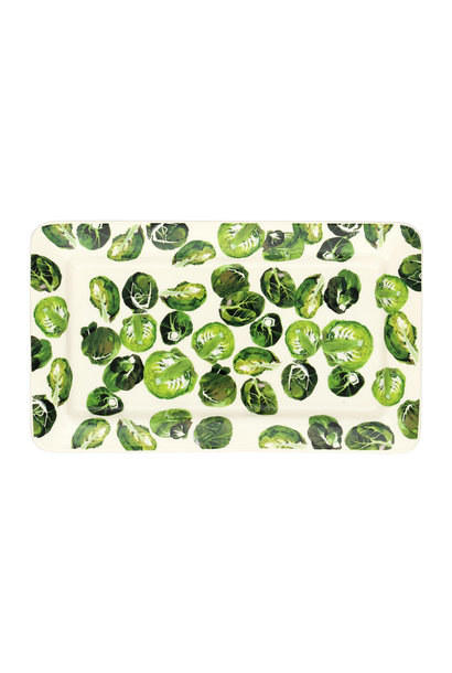 Oblong Plate - Brussel Sprouts