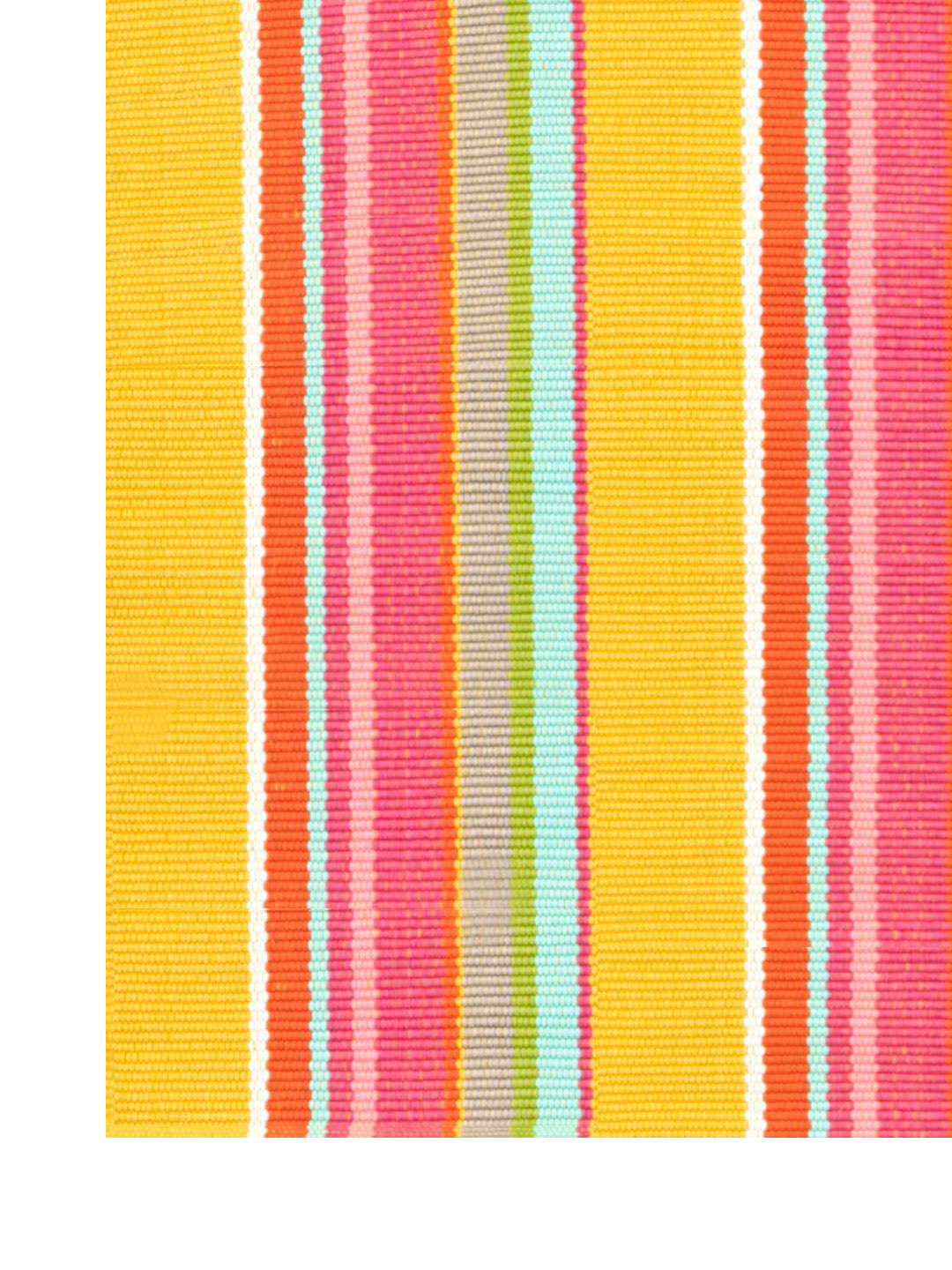 Happy Yellow Stripe Indoor/Outdoor Rug-3